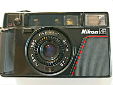 Nikon L35AF 35mm Point and Shoot Film Camera with instruction booklet