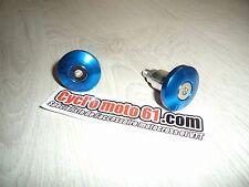 Embout de guidon cross plat Bleu Moto Universel Diamètre 13 et 17mm