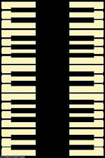 5x8 Area Rug Music Piano Keys Note Musical Studio Room Play Time NEW