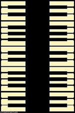 4x6 Area Rug Music Piano Keys Musical Studio Room Play keyboard Time NEW