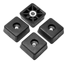 4 SMALL SQUARE RUBBER FEET FOR INDUSTRIAL, AMPS, CASES - FREE S&H - MADE IN USA