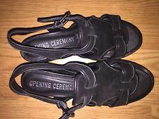 OPENING CEREMONY EST.2002 Women's Black Suede Sandals Size 39 US 8