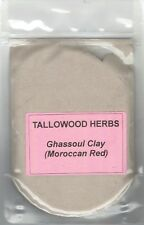 100% Pure Organic Moroccan Red (Ghassoul/Rhassoul) Clay 30-200g packs