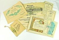 Lot of 7 Vintage & Antique Certificates and other Historical Empharma