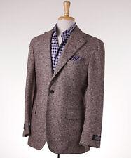 NWT $2395 BELVEST Light Brown Donegal Tweed Wool-Silk Sport Coat 40 R (Eu 50)