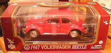 Red 1967 Volkswagen Beetle - Road Legends 1:18 Die Cast Metal Car