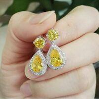 Fashion Wedding Jewelry Cubic Zirconia Earring Teardrop Drop Dangle Earrings