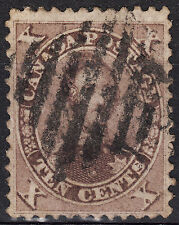 Canada 1859 10c Prince Albert, Scott 17b, VF used, catalogue - $200
