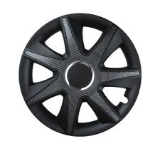 Ajuste de rueda de 15 Pulgadas Negro Carbón Set Conjunto de 4 Tapacubos Cubre [ejecutar Univers B]