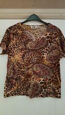 Brand New: Leopard/ Sequined Top size 14