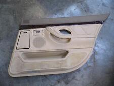 95-01 BMW E38 740i 740iL 750iL right rear passenger DOOR INTERIOR PANEL TAN SAND