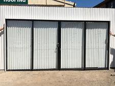 2100h x 4304w NEW Sliding Door BLACK FSSF Single Glazed