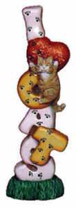 I Love Cats Stack Unpainted Ceramic Bisque Ready To Paint