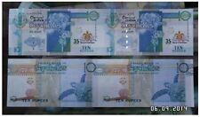 Seychelles 10 Rupees 35th Anniversary 2in1 Uncut (UNC) 塞舌尔中央银行成立35周年纪念版 10卢比两连体