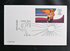 ENTIER POSTAL DES USA : OLYMPIC TORCH STATION 6 JUILLET 1984 - TBE