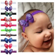 10pcs Baby Headband Newborn Hair Band Butterfly Girls Infant Princess Headdress