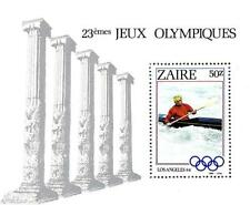 ZAIRE 1984 summer OLYMPIC GAMES S/S MNH KAYAK, SPORTS