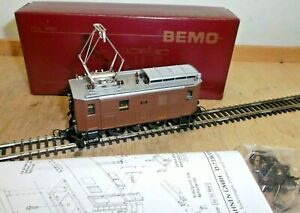 Bemo H0m 1256 122 Stangenlok Ge 2/4 No. 222 Der Rhb With Change Tested Boxed