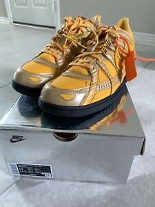 DS Nike Off White Air Rubber Dunk QS University Gold SZ 13 CU6015-700 IN HAND