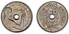 25 CENTS / 25 CÉNTIMOS. Ni. SPAIN-ESPAÑA. II REPÚBLICA. 1934. AU/SC-. ATRACTIVA.