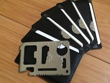10x 11 in 1 MULTI FUNCTION CREDIT CARD EMERGENCY SURVIVAL TOOL FAST U.S. SHIPPER
