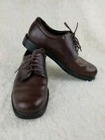 Rockport Mens Size 10.5M Casual Oxfords Lace Up Chocolate Brown Leather APM2031C