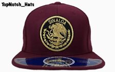 Sinaloa Federal Hat Burgundy And Gold Brand New Ships Now !!!