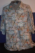 Paradise Collection Mens (XXL) Tropical Drink Design S/S Island Casual Shirt