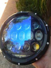 CHOPPER LED Head light 7 inch *LEGAL* 12V130W ORSRAM Hi CRI