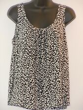 4cf00d5e127 Ann Taylor LOFT Women's Blouse Size Medium Black White Sleeveless Tank Top