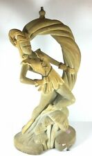 Vintage mid century Continental Art Co. Figural Chalkware Lamp - Peter Pan