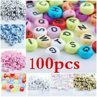 100Pcs Mixed Letter A-Z Acrylic Spacer Cube Alphabet Beads  DIY Jewelry Findings