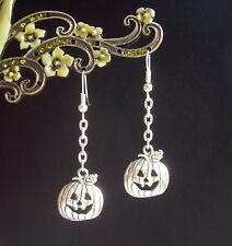 Lindo sonrisa calabaza Colgantes Pendientes de Cadena-Halloween