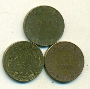 Colombia 100 Pesos coin 2016 km#296 fruit frailejon