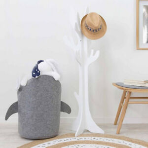 Felt Cloth Shark Laundry Hamper Toy Basket for Home Bedroom Kid's Room