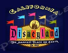California - DISNEYLAND - Travel Souvenir Flexible Fridge Magnet