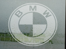 BMW  logo badge Frosted/etched Glass Effect  window Vinyl Stickers Decal x2