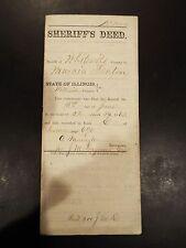 Land Transfer Sherriff's Deed Whiteside County, IL 1859