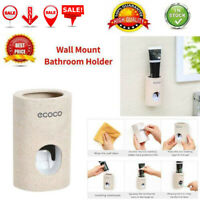 Automatic Toothpaste Dispenser Squeezer Wall Mount Dust-Proof Bathroom Holder UK