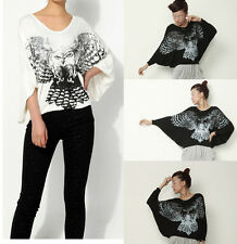 ❤Eagle asymmetrical top❤Japan Korean Fashion Funky t-shirt cute Blouse Soho S M