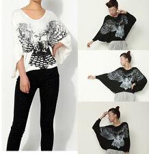 ❤Eagle asymmetrical top❤Japan Korean Fashion Funky t-shirt cute Blouse Soho S M