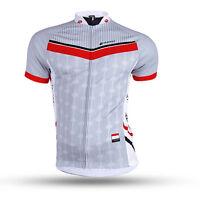 Breathable Men's Bike Bicycle Cycling Jersey Sportswear Jacket Short Sleeve Top