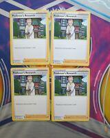 4X Professor's Research 178/202 Sword & Shield Pokemon TCG Card NM