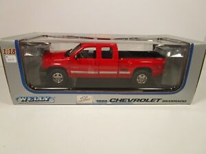 WELLY 1/18 RED 1999 CHEVY SILVERADO Z71 STEPSIDE PICK UP TRUCK NEW *READ*