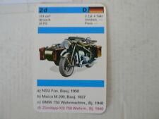 73-MOTORRADER 2D ZUNDAPP KS750 WEHRM. BJ 1940 751 CC  QUARTETT CARD