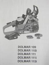 1993 Dolmar Chainsaw Service Manual Models 109, 110i, 111, 111i, 115i English