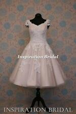 UK Designer Dress maker short wedding dress delicious lace 50s 60s vintage 1620