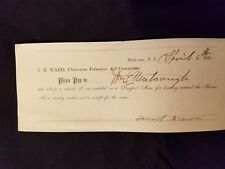 1865 CIVIL WAR NEWARK NJ J.B. WARD SCRIP DRAFTED MAN SERVICE UNION SOLDIER BROWN