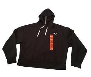 Puma Women's Size Medium Black Modern Sport Hoodie Cropped Sweatshirt  NWT