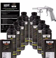 U-POL Raptor Tintable Urethane Spray-On Truck Bed Liner Kit w/Spray Gun, 8 Liter